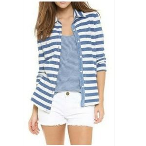 Splendid Cotton Fitted Button Down Knit Shirt